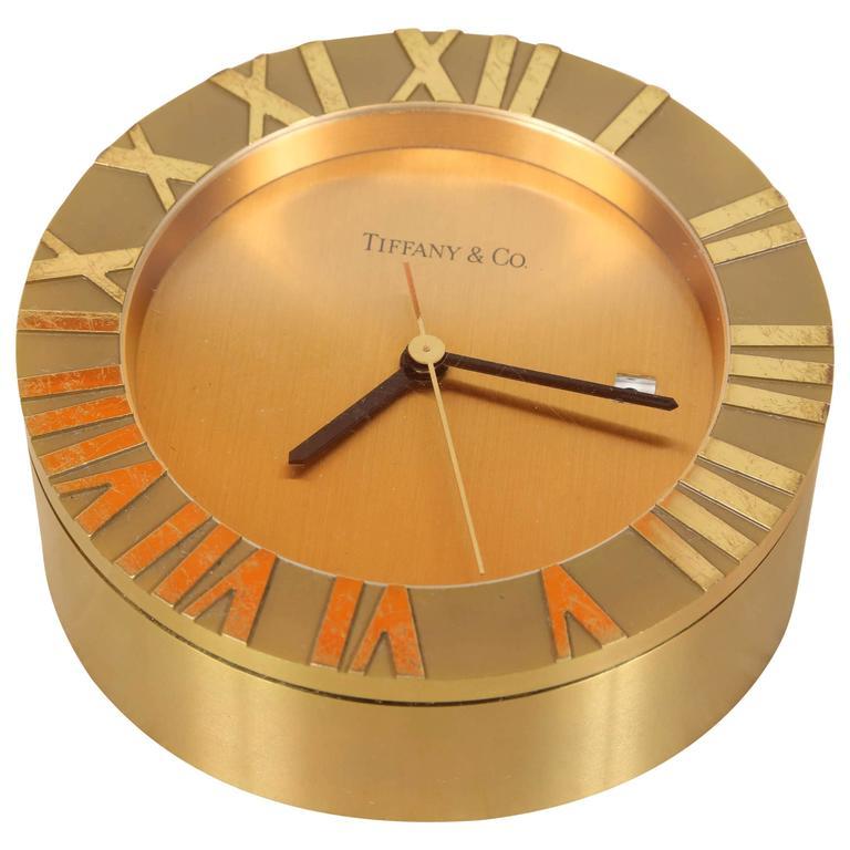 Tiffany & Co Brass Desk Clock 1