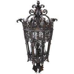 Monumental Wrought Iron Six Light Lantern