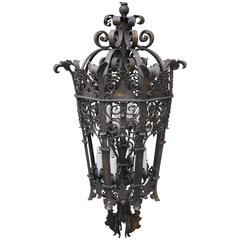 Monumental Wrought Iron Six Light Lantern