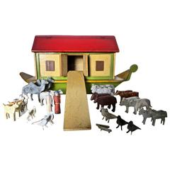 Early 20th Century Toy Noah's Ark, German