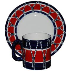 Italian Drum Cup and Saucer