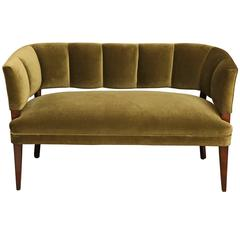 Channel Back Settee, French c. 1940's