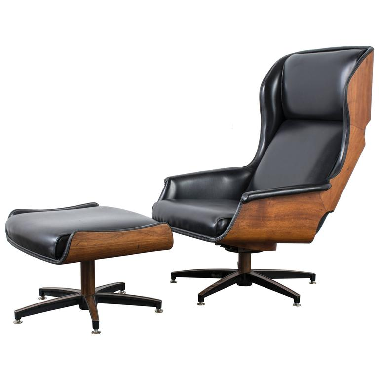Mid Century Modern Lounge Chair And Ottoman By Drexel At