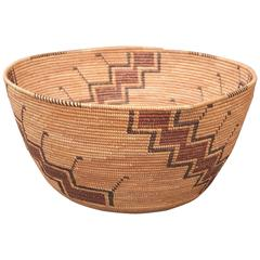 Antique Native American Indian Basket, Yokuts (California), 19th Century