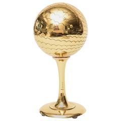 Polished Brass Vintage Mid Century Modern Globe Style Sculpture /Object