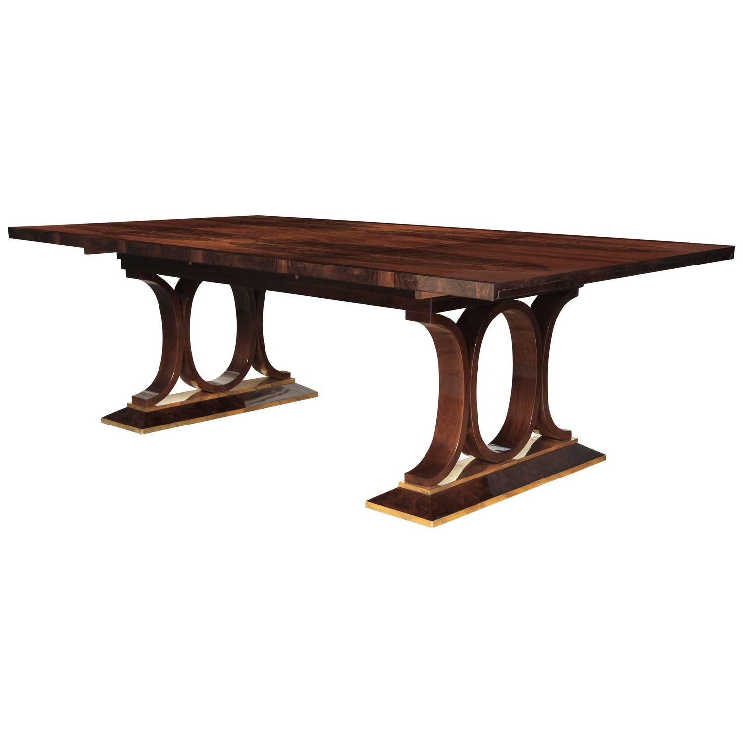 Superb art deco dining table at 1stdibs for Art dining room furniture