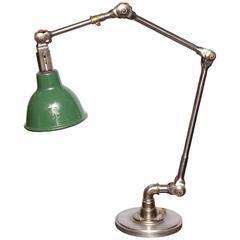Desk Lamp with Green Enamel