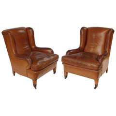 Spanish Leather Club Chairs