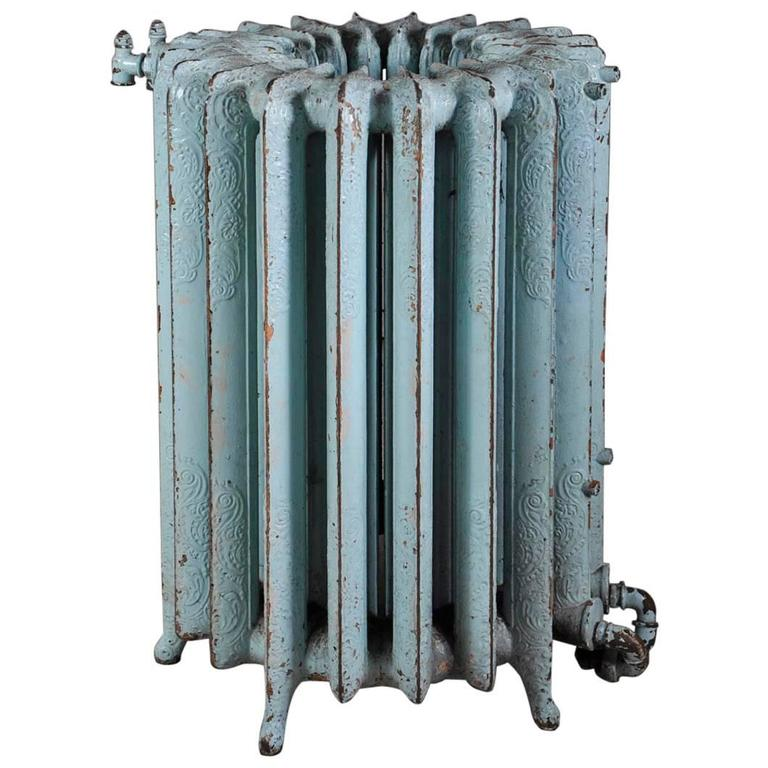 Very Unusual Cast Iron Radiator In A Round Shape. At 1stdibs