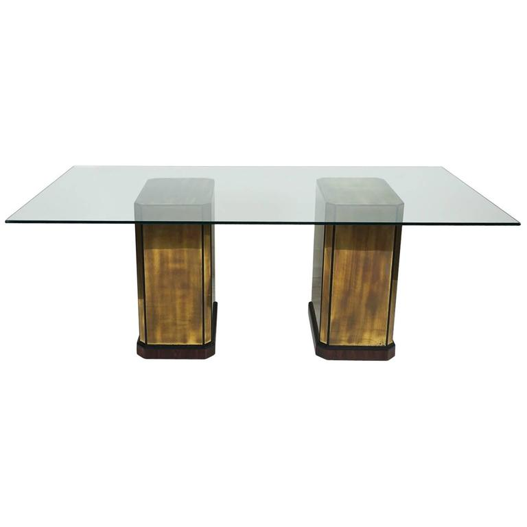Mastercraft Double Pedestal Dining Table or Desk