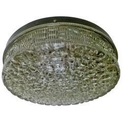 Swedish Glass Orrefors Carl Fagerlund Flush Ceiling Light
