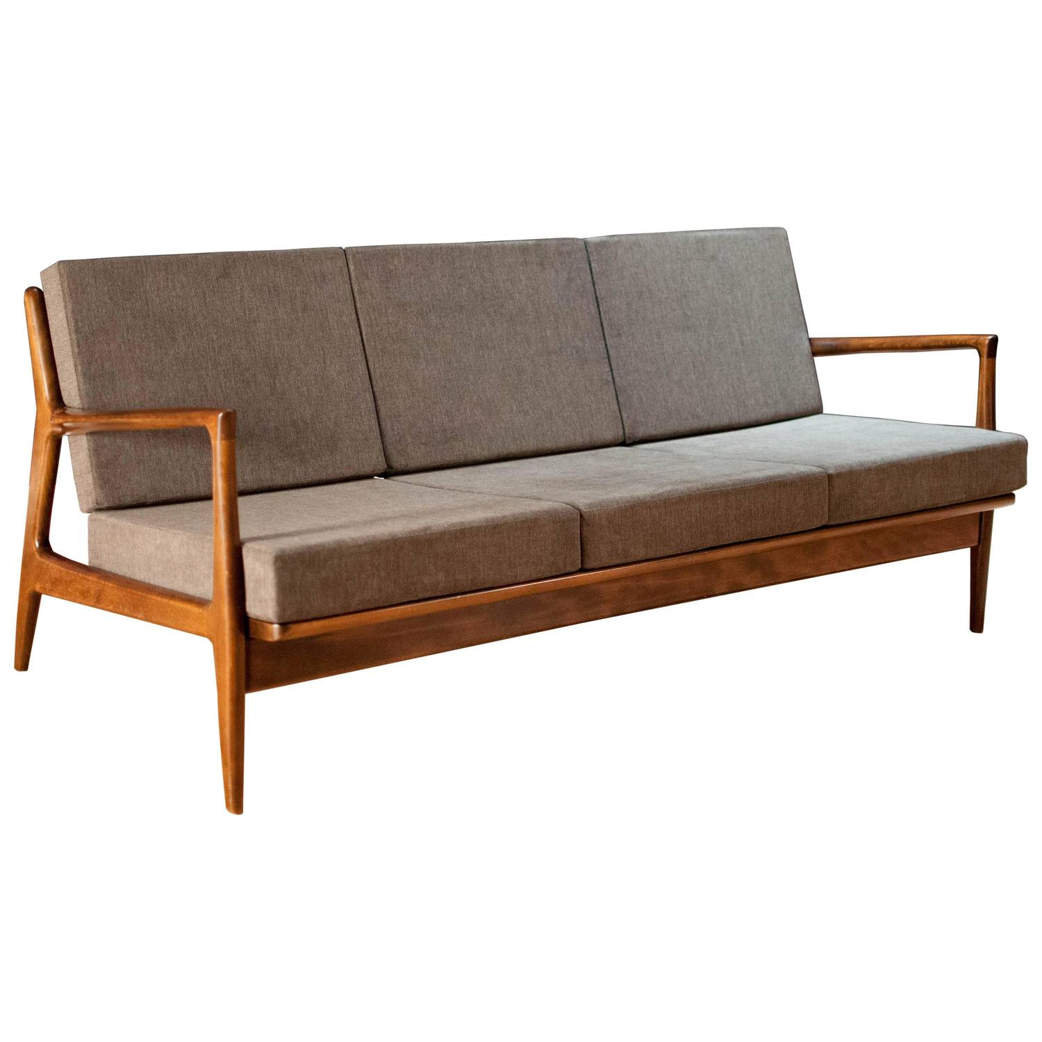 Danish Ib Kofod Larsen Sofa By Selig At 1stdibs