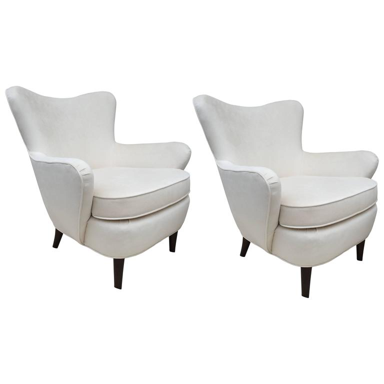 Pair Rare Ernst Schwadron Club Chairs,for Rena Rosenthal