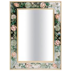 Floral Eglomise Mirror