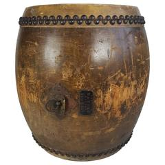 Large 19th Century Tanggu Drum, Traditional Taiko Japanese Drum