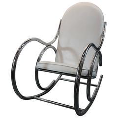 1970's Chrome Sculptural Rocking Chair