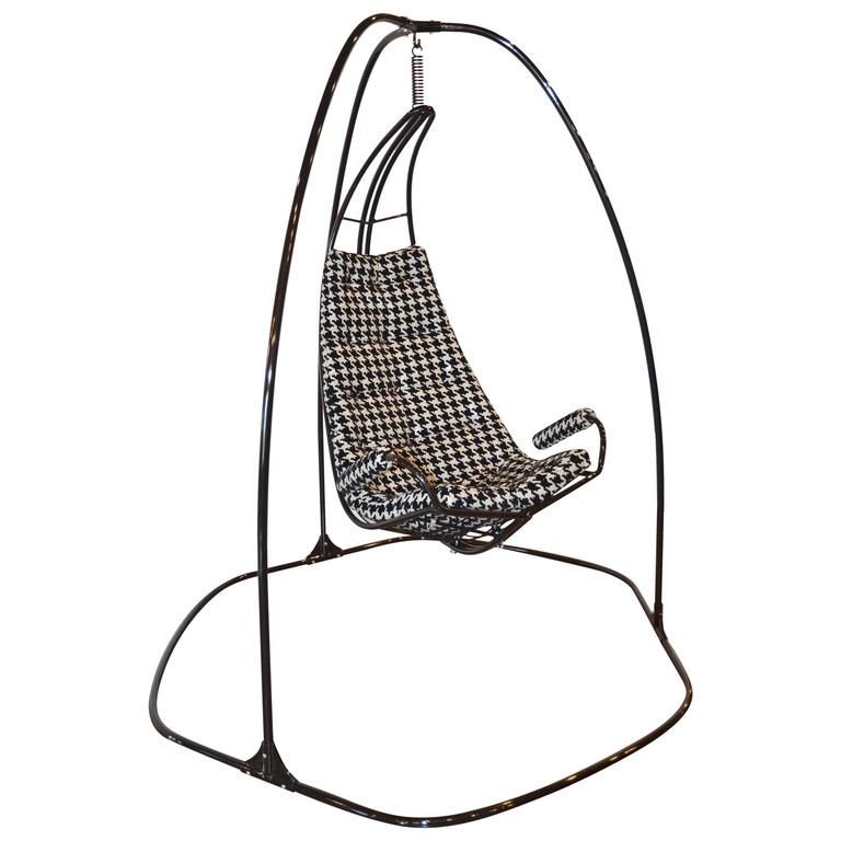 Metal Framed Swinging Lounge Chair