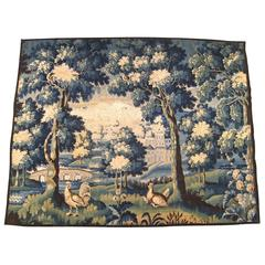 Antique 18th Century Flemish Verdure Tapestry {from Ralph Lauren window display}