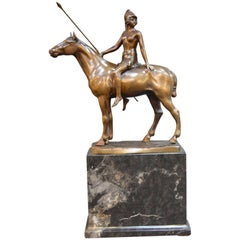 Bronze Roman Female Warrior by F. Thiermann