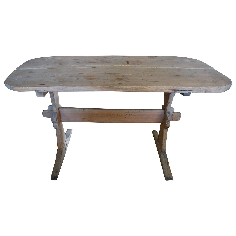 18th Century Swedish Trestle Farm Table at 1stdibs
