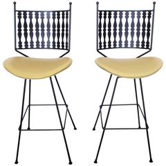 Pair of Vintage Mid-Century Bar Stools by Arthur Umanoff for Shaver Howard