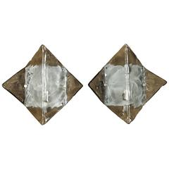 Pair of Stunning Wall Sconces by Mazzega