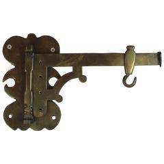 Brass Wall Bracket & Hook