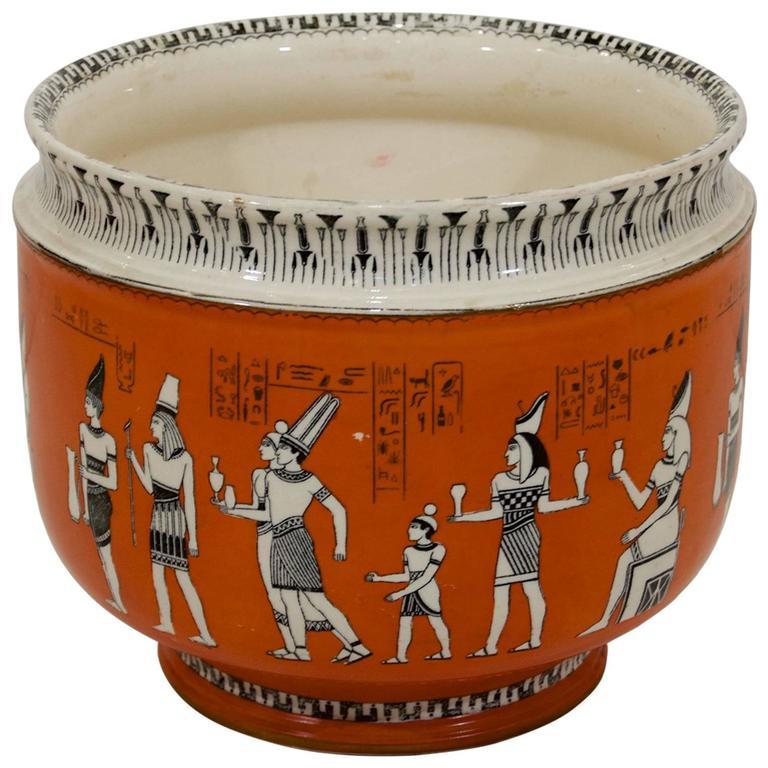 Royal Doulton Egyptian Revival Porcelain Jardinière