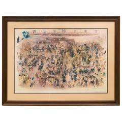 New York Stock Exchange Litho signed by LeRoy Neiman