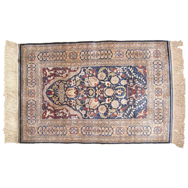 Hereke Silk Rug Youtube: Antique Turkish Hereke Oriental Rug With Weaver's Mark In