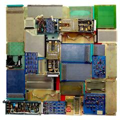 """Component Art """"659-C"""" Wall Sculpture, a Massive View of Mid-Century TV Artifacts"""
