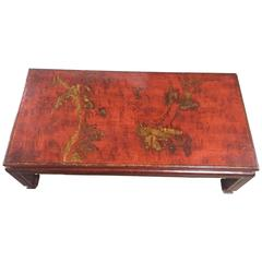 Mid-Century Red Lacquer Chinese Style Coffee Table