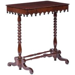 Regency Gothic Revival Ebonized and Mahogany Side Table