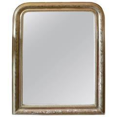 French XIX Louis Philippe Gilded and Carved Mirror