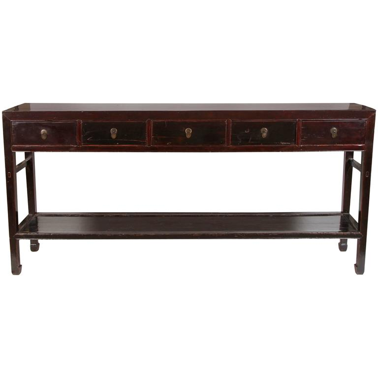 18th Century Five-Drawer Chinese Scholar's Table