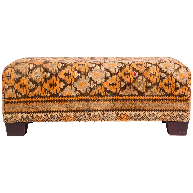 large kilim rug ottoman at 1stdibs