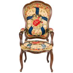 French Needle Point Armchair