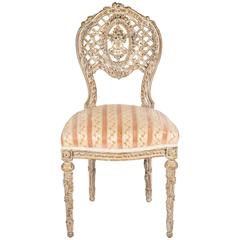 French Carved Boudior Chair