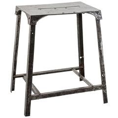 French Industrial Era Machine Base Solid Steel Work Table