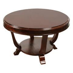 Rosewood Art Deco Center Table