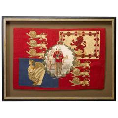 Edward VII Commemorative British Flag, circa 1902