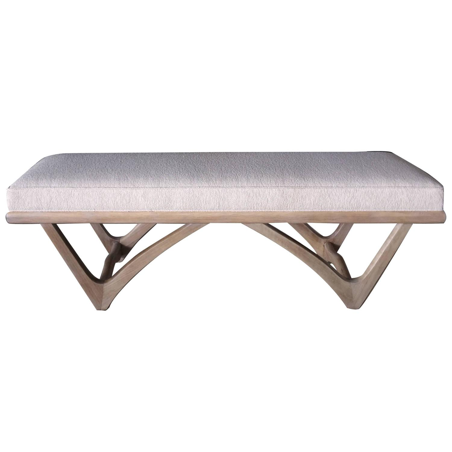 Mid Century Bench In Style Of Pearsall At 1stdibs
