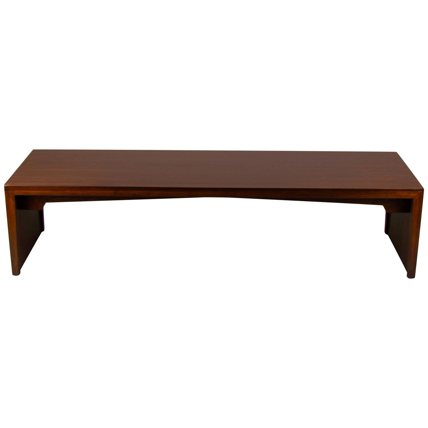 Handsome Mahogany Bench or Coffee Table by Milo Baughman for