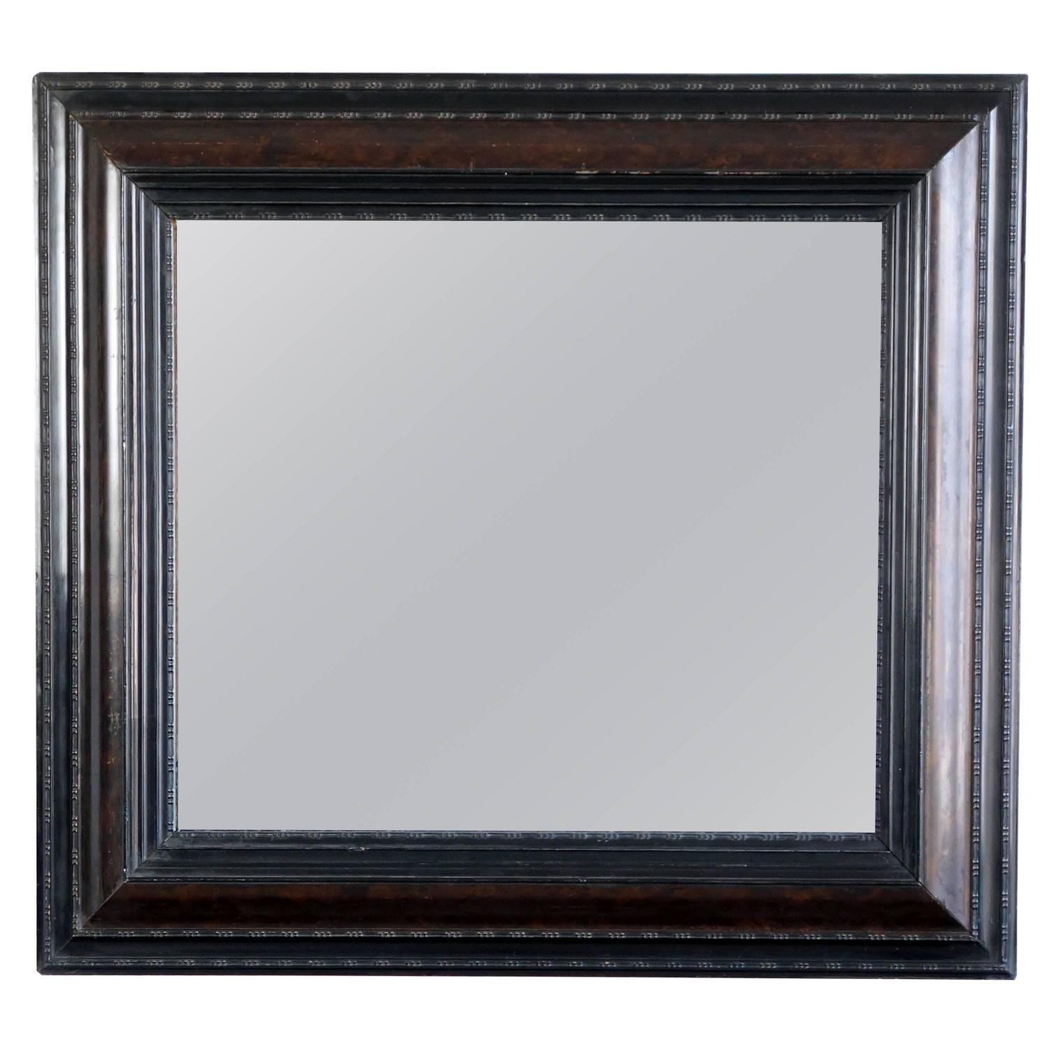 Dutch style 19th century frame with antiqued mirror at 1stdibs for Mirror frame styles