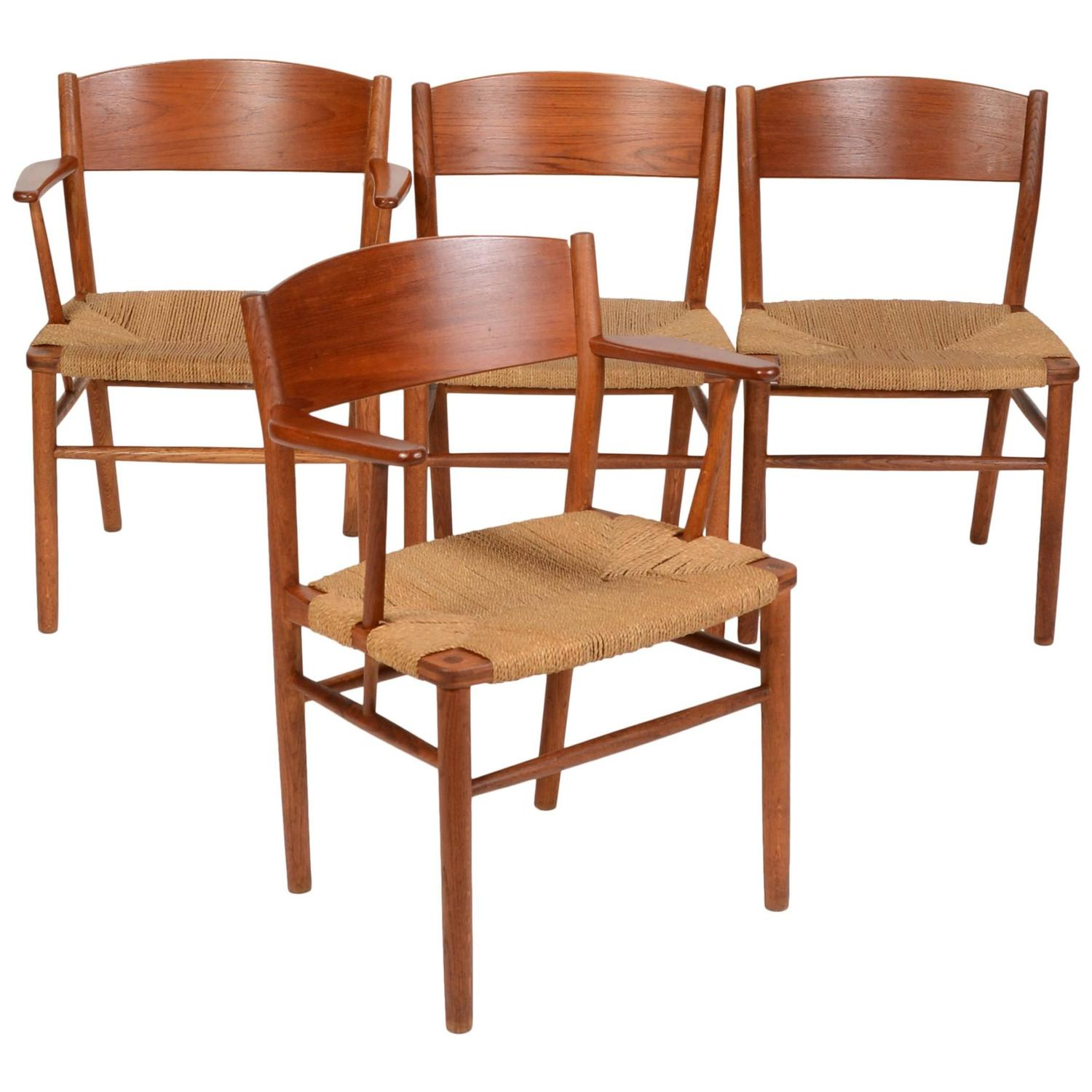 set of four b 248 rge mogensen seagrass dining chairs for sale borge mogensen seagrass dining chair at 1stdibs