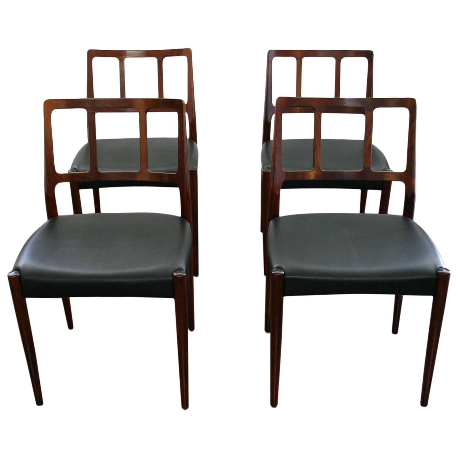 set of four mid century modern dining chairs for sale at 1stdibs