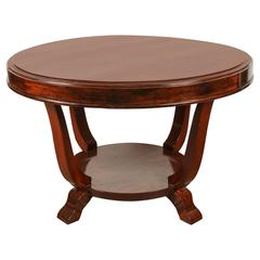 Round Rosewood Table