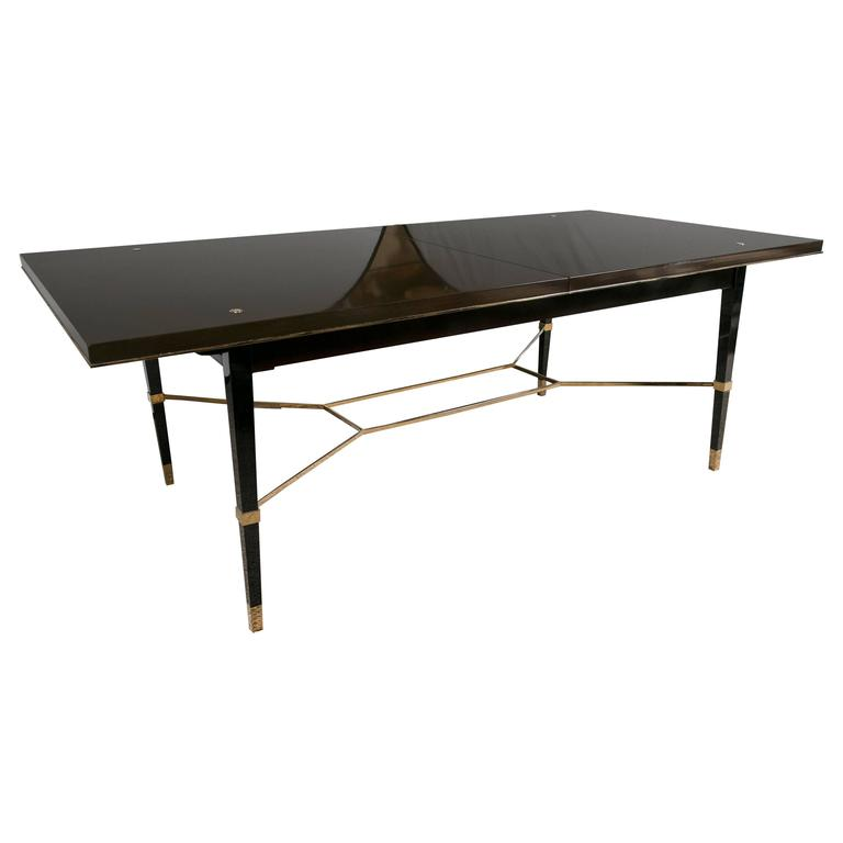 this ralph lauren modern tubular chrome base dining table is no longer