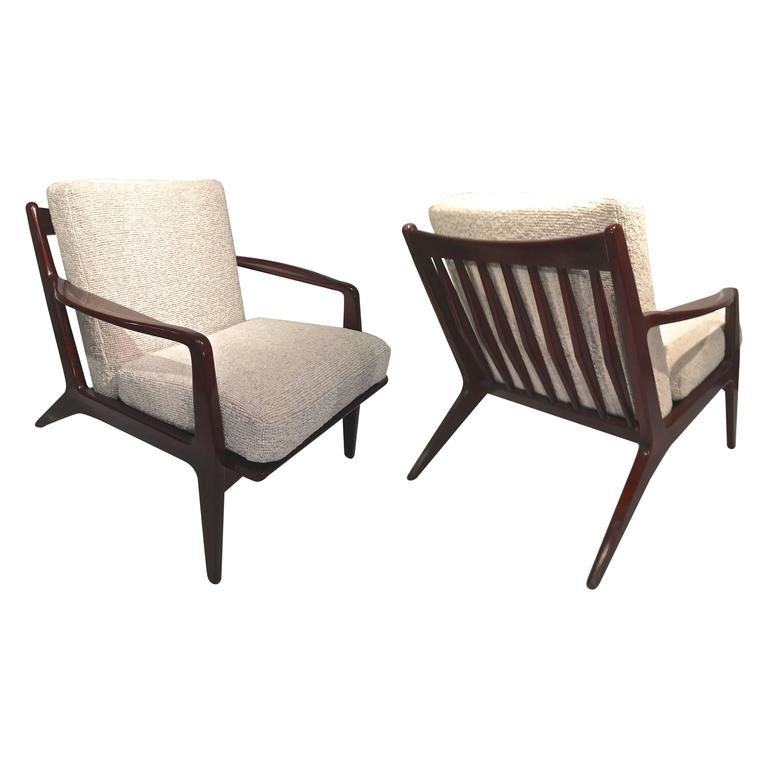 Of lounge chairs newly reupholstered in maharam for sale at 1stdibs