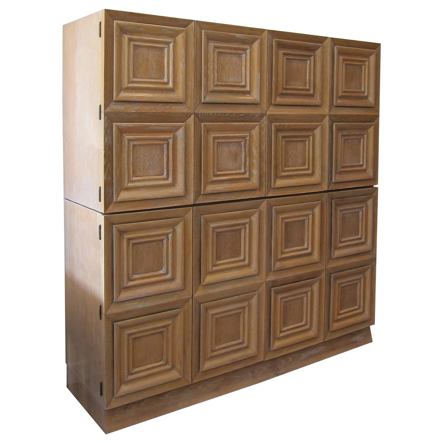 Cerused Oak Kitchen Cabinets Gorgeous Cerused Oak Kitchen: French 1950s Cerused Oak Cabinet At 1stdibs